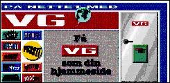 En VG-side fra 1995